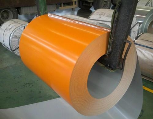 color coated metal sheets coils orange color