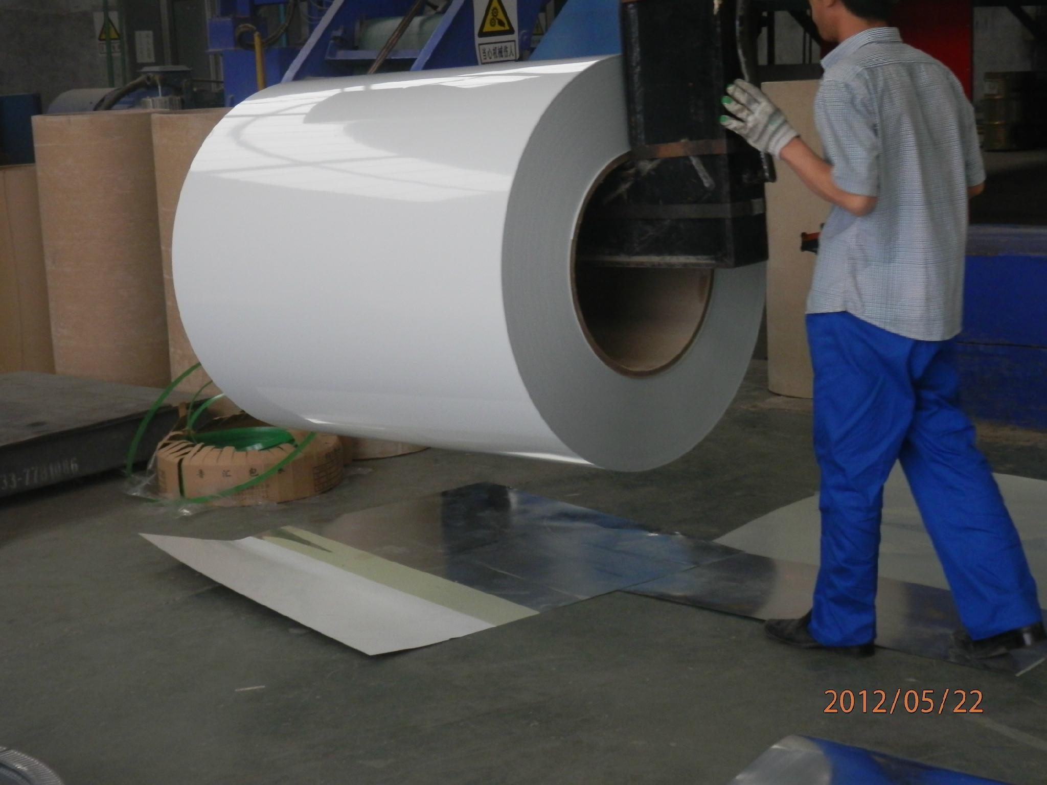 white color prepainted galvanized steel coils finished