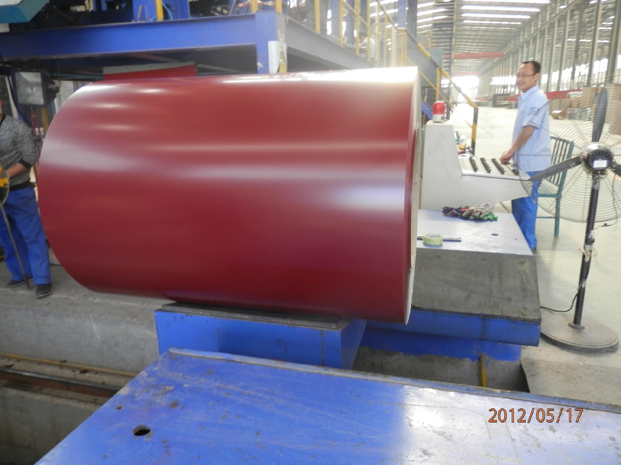RAL3005 prepainted galvanized steel coils