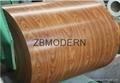 Wood grain pattern prepainted galvanized