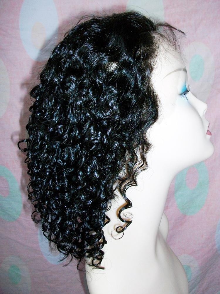 Custom Short Curl Synthetic front Lace Wigs 1