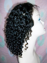 Custom Short Curl Synthetic front Lace Wigs