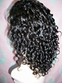 Custom Short Curl Synthetic front Lace Wigs 2