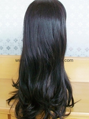Custom Long Wave Human Hair wigs