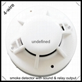 DC powered 4-wire smoke detector with