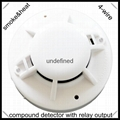 4-wire smoke&heat detector with relay