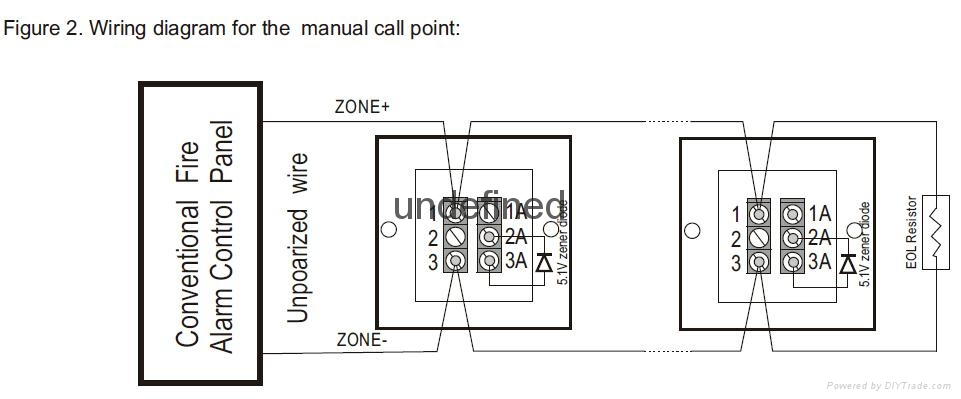 conventional manual call point emergency break glass - zc106