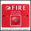 Remote LED for fire alarm security
