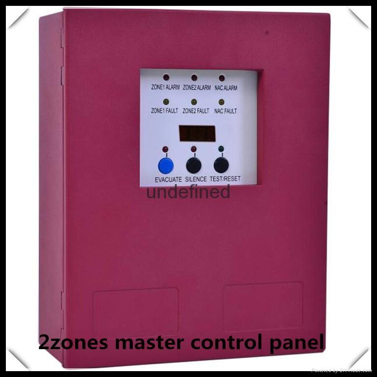 Mini conventional 2zones  fire alarm control panel 1