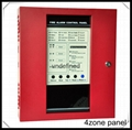 4zones conventional fire alarm control