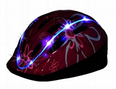 Child bicycle helmets with lighting