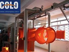 semi-automatic powder coating line