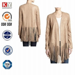 alibaba usa online shop women pu leather western fringe jackets