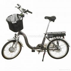 Electirc Folding Bike with basket infront