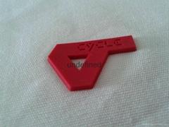 服装商标厚版LOGO热转印 3D立体硅胶商标