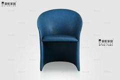 設計師休閑椅 酒店椅 Calla Chair 馬蹄蓮椅 輕奢意大利傢具