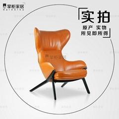 p22椅新款當代設計師休閑實木沙發椅樣板房設計師傢具