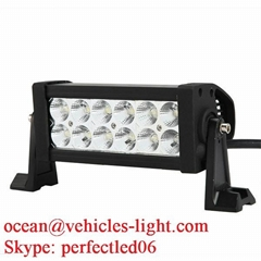 7.5'' Double row Epistar 36W light bar with side bracket