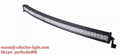 50'' Double row Cree 288W curved light bar black