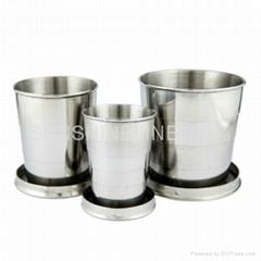 不锈钢折叠杯