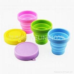 硅胶折叠杯