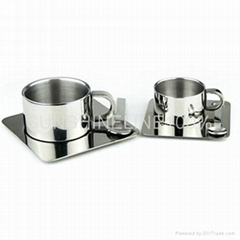 Double wall Stainless steel Tea mug/coffee cup