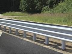 Three beam zinc coated highway guardrail for sale