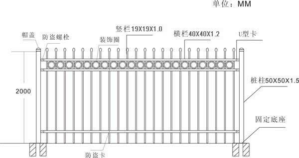 厂家全国直销喷塑铁艺护栏 3