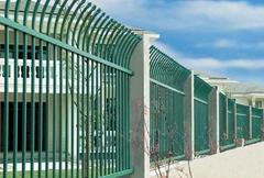 大量供应单向弯头铁艺护栏