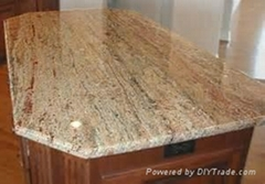 High qulity dream orange natural polished granite slab for sale