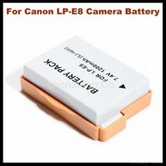2015 Hot Selling Camera Accessories LP-E8 For Canon Camera EOS 550D, LP-E8