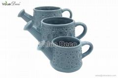 Ceramic flower watering can (DMV01510)