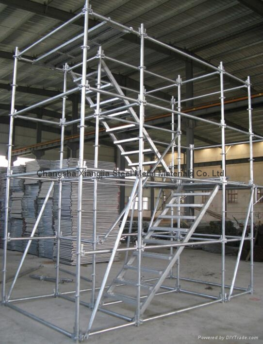 ... Scaffolding Step Ladder 8u0027x6u00275u0027u0027 Stairs With Guardrails | Frame Scaffold
