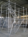 Scaffolding step Ladder 8'x6'5'' Stairs with guardrails | frame scaffold system 4