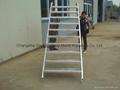 Scaffolding step Ladder 8'x6'5'' Stairs with guardrails | frame scaffold system 3