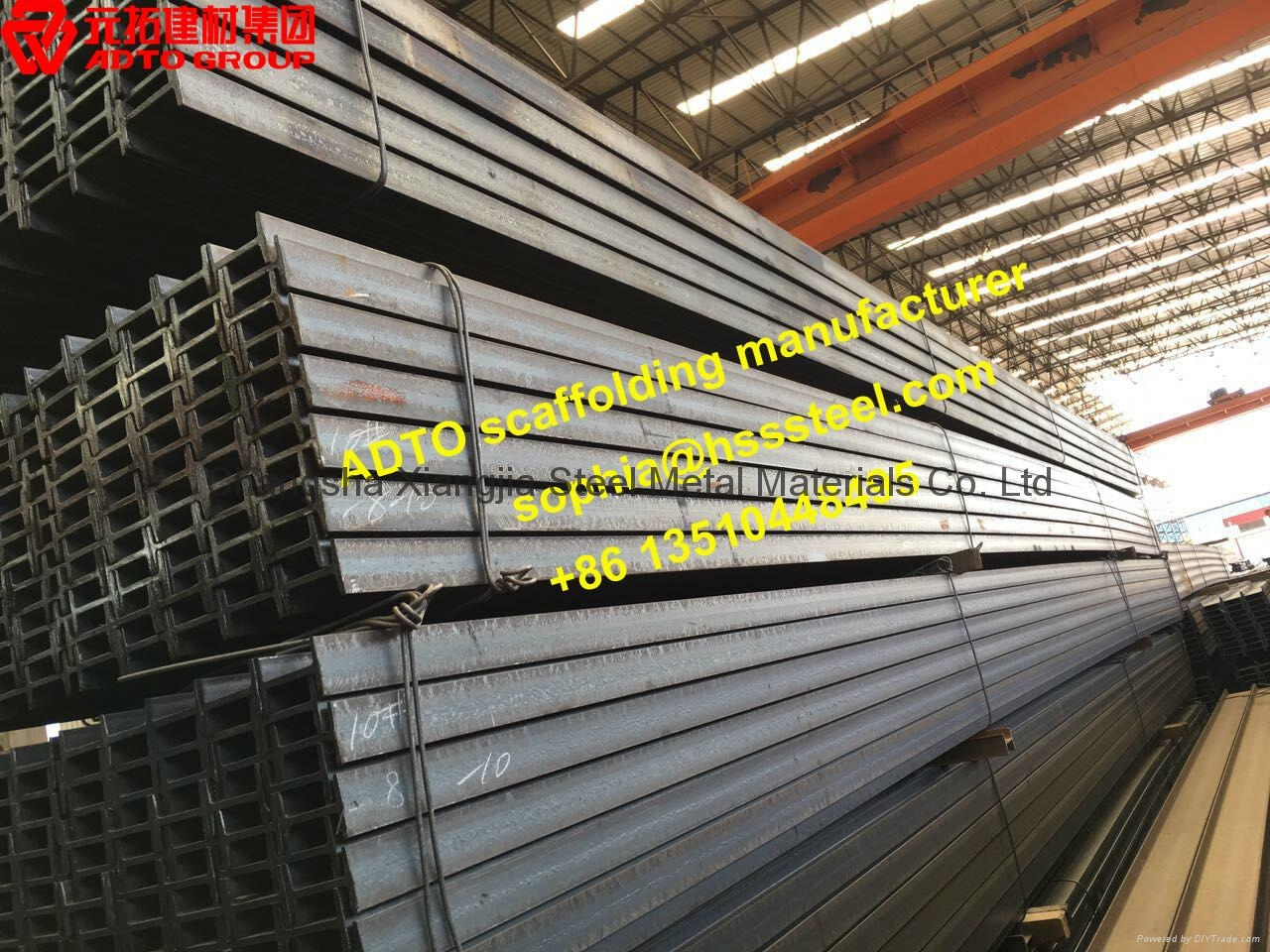 Steel I H Beam 10' for Sidewalk shed Scaffolding System 1