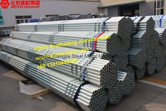 20' Hot Dip Ga  anized Pipe for Tube and Clamp Scaffolding System ANSI standard
