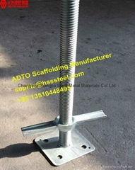 24'' Adjustable Screw Solid and hollow base jack for Scaffolding Shoring System