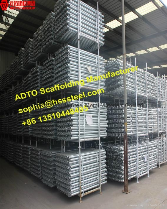 2'-10' ANSI Layer cuplock scaffold system for heavy loading construction 4