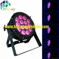 Flat Outdoor IP65 RGBWA 5IN1 slim led par can 2