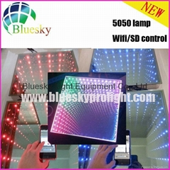 2015 New 3D  5050 lamp Wifi control Wedding led dance floor