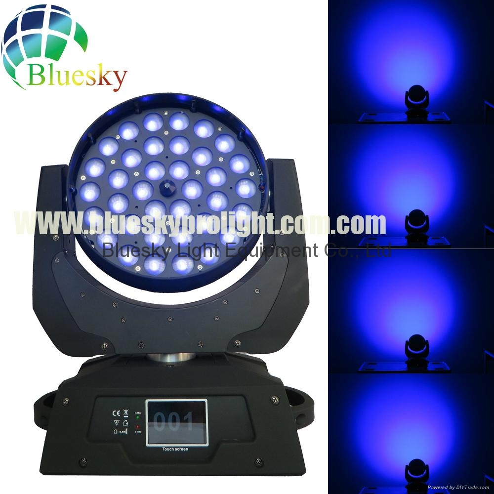 Touch Screen RGBW 4in1 36*10w zoom led moving washer light 3