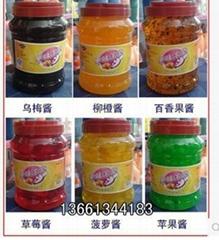 聊城刨冰原料水果果醬/6瓶一箱