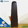 100% virgin long black hair glueless lace front human hair wigs 1