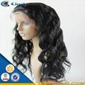100% virgin long black hair glueless lace front human hair wigs 3