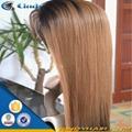 100% virgin long black hair glueless lace front human hair wigs 5