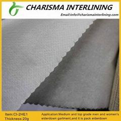 100%polypropylene fiber non woveninterlining 2HE1 for woolen and cotton