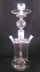 clear glass hookah of tengda with leather EVA