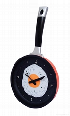 pan shape wall clock
