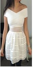 Bardot Bandage Skater Dress